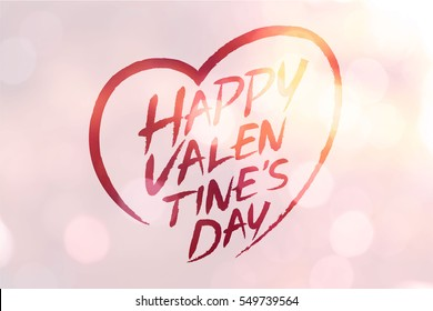 Happy Valentine Day Color Background Stock Vector Royalty Free