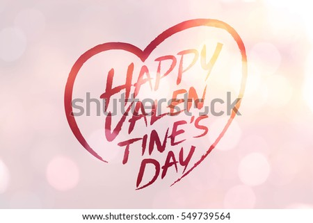 Happy Valentine Day Transparency Background Stock Vector Royalty