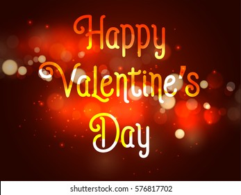Happy valentines day abstrac gradient background with gradient text, EPS10 vector.