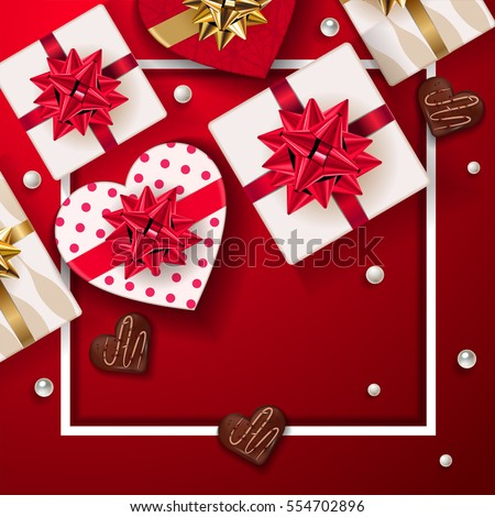 Happy Valentines Day Background Set Beautiful Stock Vector Royalty