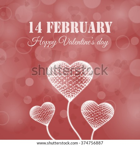 Happy Valentines Day Banner Holiday Design Stock Vector Royalty