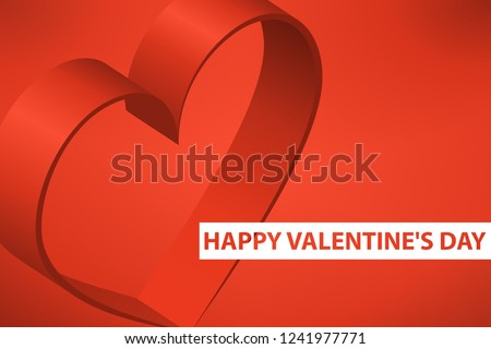 Happy Valentines Day Banner Mockup 3 D Stock Vector Royalty Free
