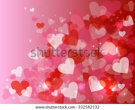 Happy Valentines Day Card Background Love Stock Vector Royalty Free
