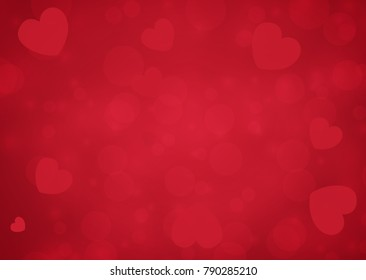 Happy Valentine's day card hearts vector background