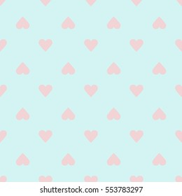 Happy Valentine's Day card seamless background pattern pink heart