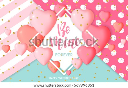 happy valentines day card template cute stock vector royalty free