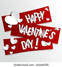 Happy Valentines Day card vector illustration