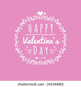 Happy Valentines Day Cards Ornaments Hearts Stock Vector Royalty