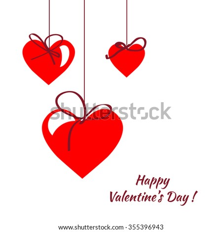 Happy Valentines Day Cardvectorflyer Background Hearts Stock Vector