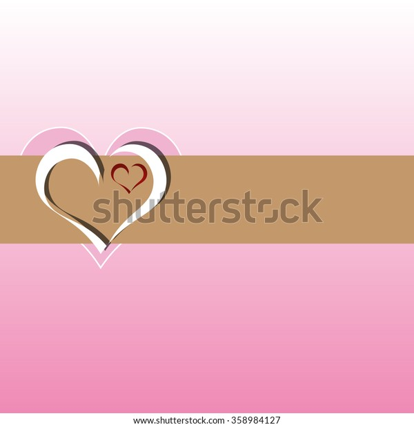 Happy Valentines Day celebrations greeting card with beautiful heart shape design in brown, pink, white and red color.
