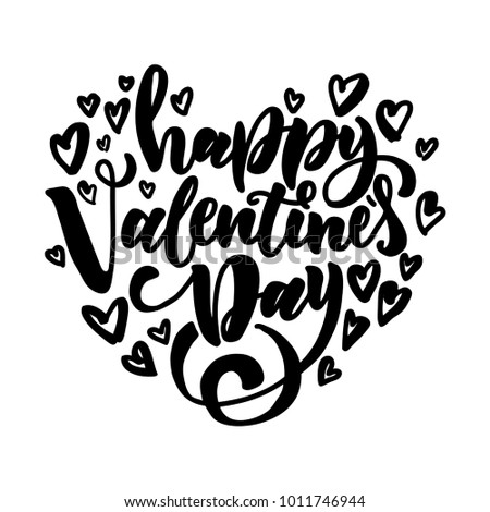 Happy Valentines Day Design Holiday Greeting Stock Vector Royalty