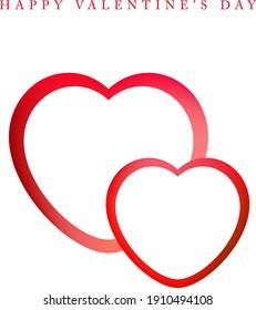 Happy valentine's day digital card, vector illustration, digitally created on a tablet