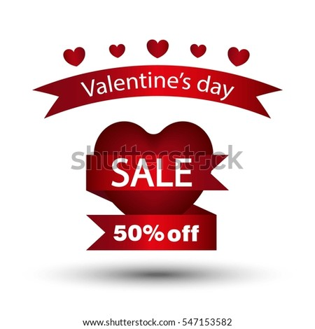 Happy Valentines Day Flyer Template Creating Stock Vector Royalty
