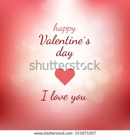 Happy Valentines Day Gift Card Lettering Stock Vektorgrafik