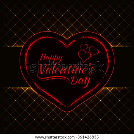 Happy Valentines Day Gold Lights Card Stock Vector Royalty Free