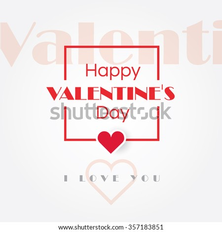 Happy Valentines Day Graphic Design Cover Stock Vector Royalty Free