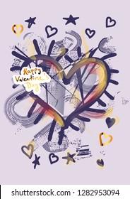Happy Valentine's Day, greeting card