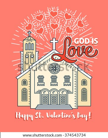 Happy Valentines Day Greeting Card Poster Stock Vector Royalty Free