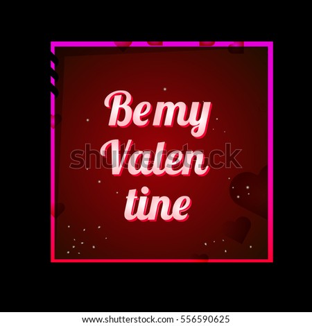 Happy Valentines Day Greeting Card Valentine Stock Vector Royalty