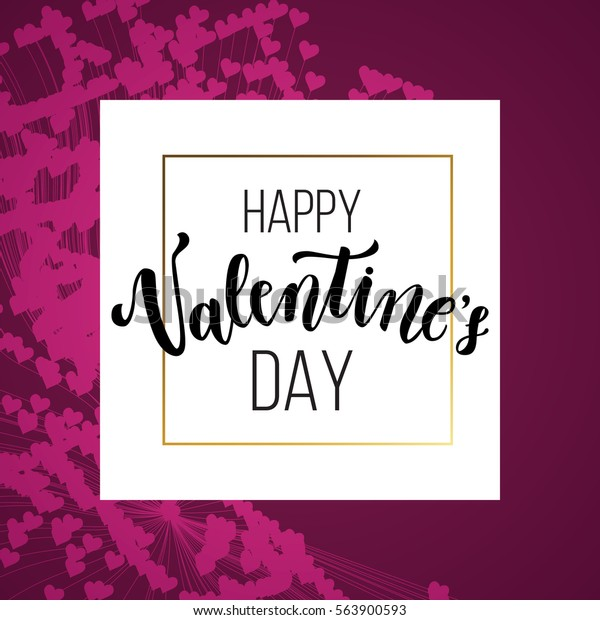 graphic about Happy Valentines Day Banner Printable called Pleased Valentines Working day Greeting Card Intimate Inventory Vector