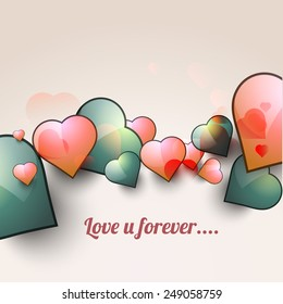 Happy valentines day greeting, Love beautiful vector eps10