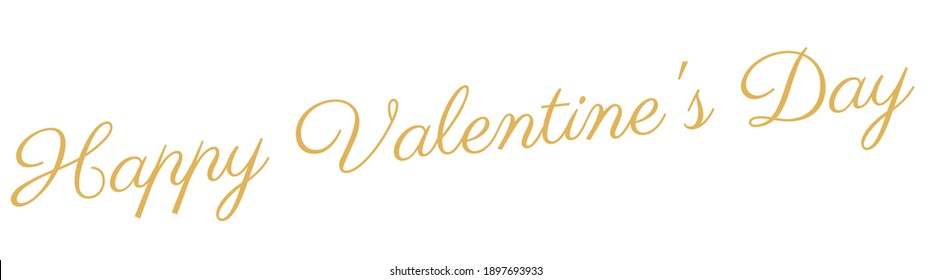 Happy Valentines day. Hand drawn brush pen lettering. Design for holiday greeting card and invitation of the wedding, Valentines day and love day. Typography poster. Romantic quote postcard template.