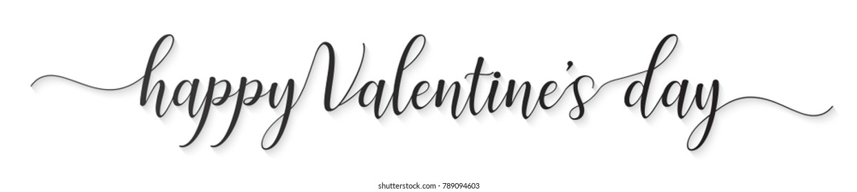 HAPPY VALENTINE'S DAY hand lettered card greeting,illustration EPS10