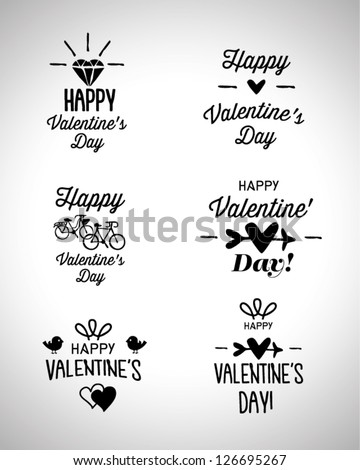 Happy Valentines Day Hand Lettering Stock Vector Royalty Free