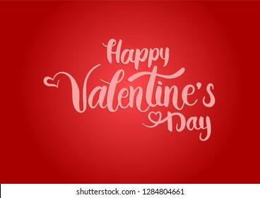Happy Valentine's Day - hand written lettering