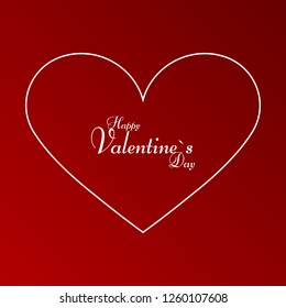 Happy Valentine's Day in the heart