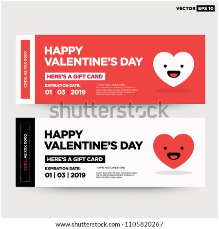 Happy Valentines Day Heres Gift Card Stock Vector Royalty Free