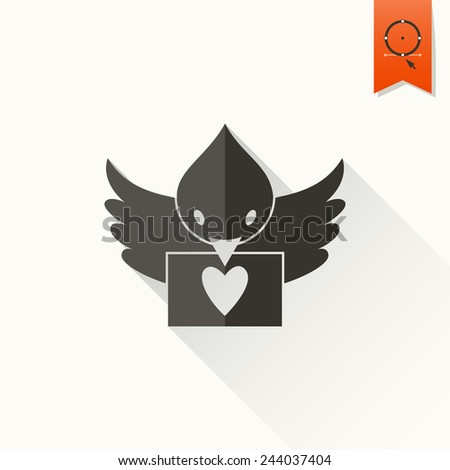 Happy Valentines Day Icon Stock Vector Royalty Free 244037404