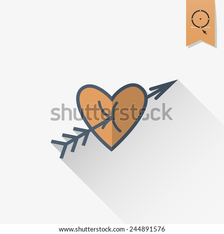 Happy Valentines Day Icon Stock Vector Royalty Free 244891576
