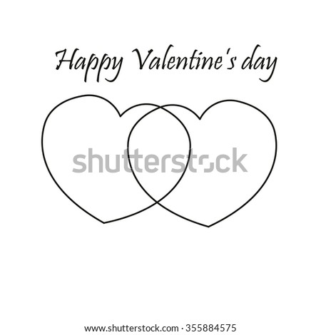 Happy Valentines Day Icon Stock Vector Royalty Free 355884575