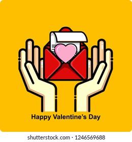 happy valentines day, icon vector
