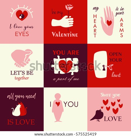 Happy Valentines Day Icons Stock Vector Royalty Free 575525419