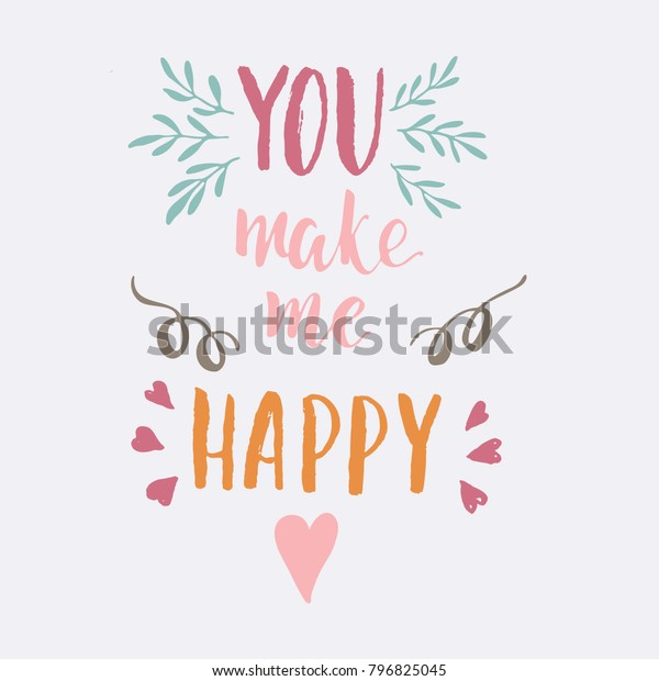 graphic relating to Happy Valentines Day Printable identified as Joyful Valentines Working day Lettering Greeting Card Inventory Vector