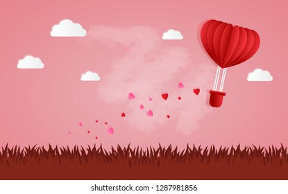 Happy Valentines Day and Happy Marry, on abstract background lat design style vector graphic illustration