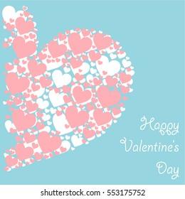 Happy Valentine's day minimalistic poster