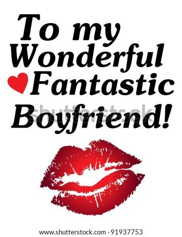 Happy Valentines Day My Boyfriend Editable Stock Vector Royalty