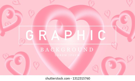 Happy Valentine's Day, Pink hearts on pink background, Valentine's Day vectors, Sweet graphic