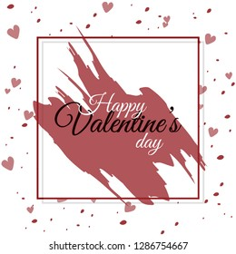 Happy valentines day poster, wallpaper and template design vector illustration.
