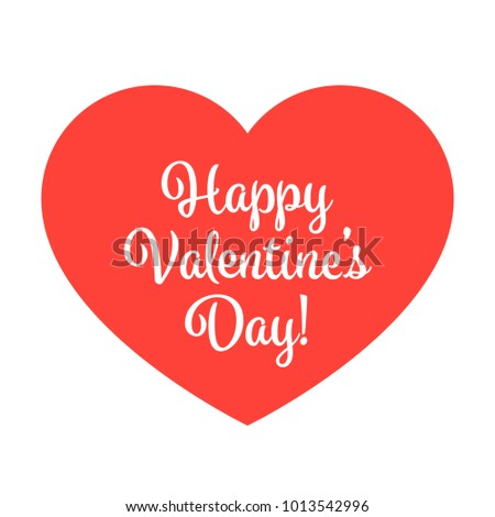 Happy Valentines Day Red Heart Vector Stock Vector Royalty Free