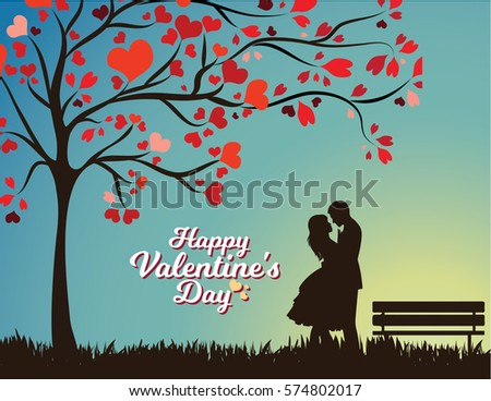 Happy Valentines Day Romantic Vector Illustration Stock Vector