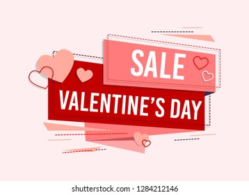 Happy Valentines Day. Valentines Day sale offer. Happy Valentines Day Card - Vector illustration. - Vector