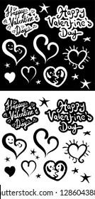 Happy Valentine's Day, set of design elements
