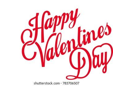 Happy Valentines day typography.