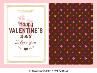 Happy Valentines Day Typography Greeting Card Stock Vector Royalty