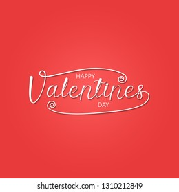 Happy Valentines Day Typography Poster.Handwritten Calligraphy Text.Valentines romantic greeting card logo.Love Retro vintage logo style.Vector illustration