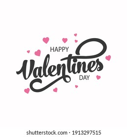 Happy Valentines Day Typography Vector Design. Stock Vector